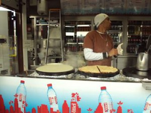 Crepe STand in Paris for Tony's trip