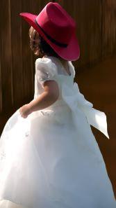 Western Wedding in Dallas: Flower Girl