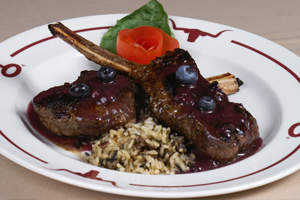 Enjoy a beautiful Elk plate at Y.O. Ranch Steakhouse in Dallas