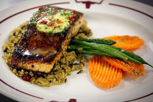 Y.O. Ranch Steakhouse-Dallas Salmon