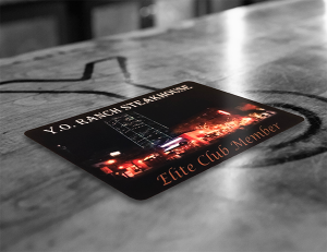 Y.O. Ranch Steakhouse Dallas Elite Club Card