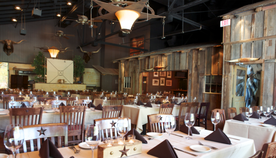 Your dallas wedding rehearsal destination y o ranch for Best private dining rooms west end