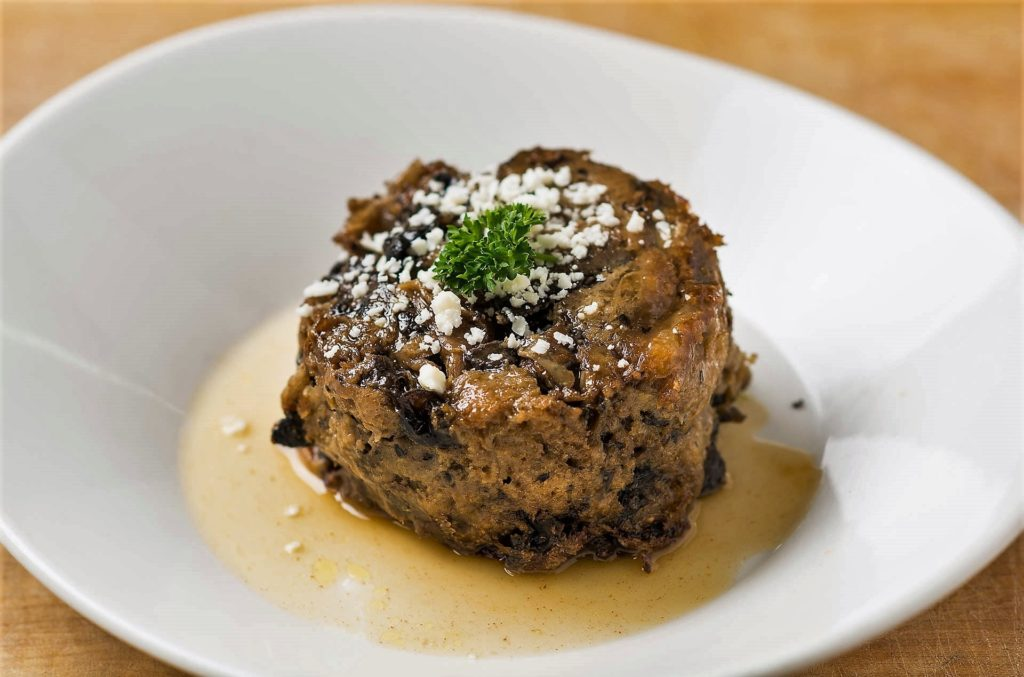 Steakhouse Recipe- Wild Mushroom Bread Pudding