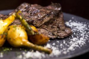 Steak Cooked in Carne Asada Fashion