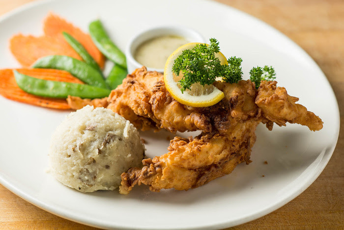 Chicken Fried Lobster with Lemon Caper Butter Cream