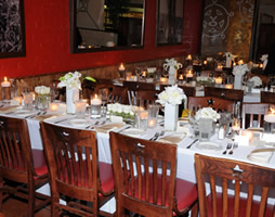 Banquet in Dallas: YO Steakhouse in Dallas Banquet Rooms Tables Set